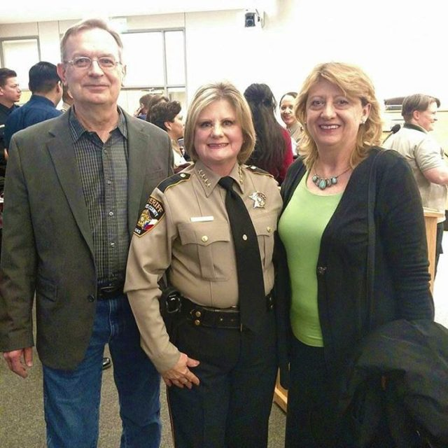 Proud of our new sheriff Sally Hernandez