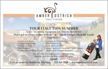 Amber Ostrich Italy Tours Flyer