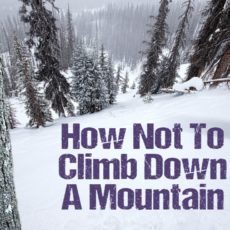 How Not to Climb Down a Mountain
