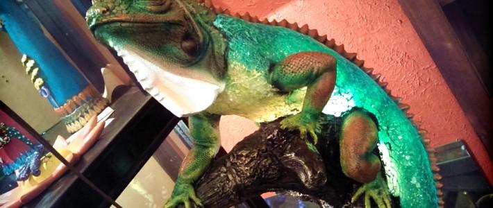 Iguana Lamp, Fortney Home, Austin, Texas