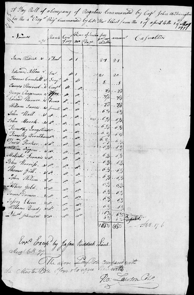 Malachi Francis - Fold3_Page_8_Revolutionary_War_Rolls_17751783