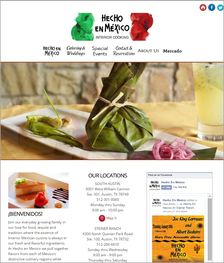 Hecho en Mexico Website Design